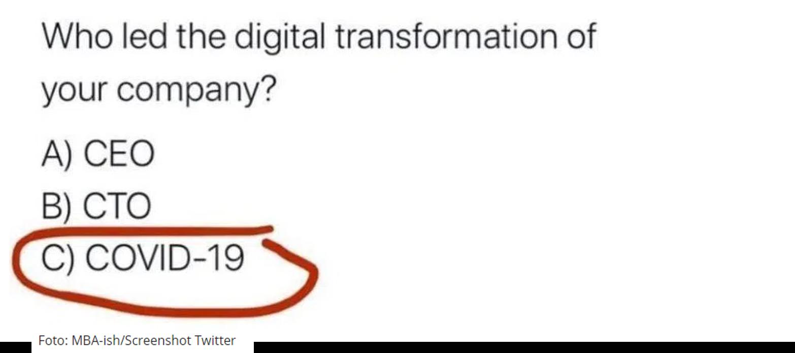 Who led digital Transformation